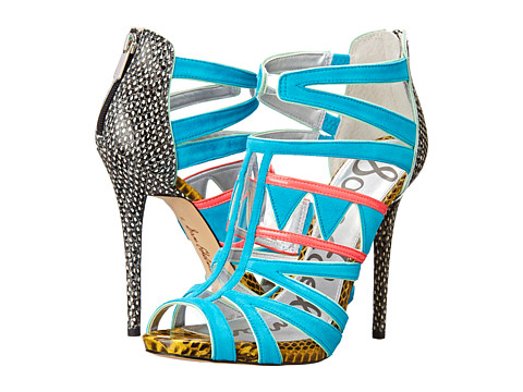 Sam Edelman - Jazz (Hawaiian Blue/Clear/Bright Melon) Women's Shoes