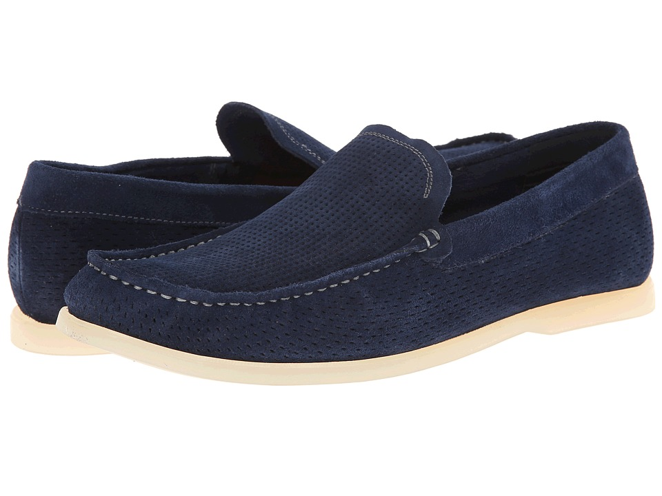 Kenneth Cole Reaction - Flat Top (Navy) Men's Slip on Shoes