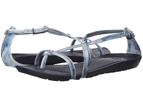 Crocs - Really Sexi Marbled Flip Sandal (White/Navy/Navy) Women