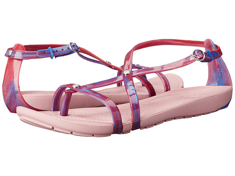 Crocs - Really Sexi Marbled Flip Sandal (Blue Multi/Petal Pink) Women's Sandals