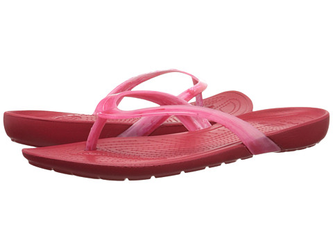 Crocs - Really Sexi Marbled Flip (White/Pepper/Pepper) Women's Sandals