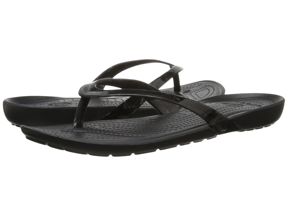 Crocs - Really Sexi Marbled Flip (White/Black/Black) Women's Sandals