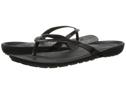 Crocs - Really Sexi Marbled Flip (White/Black/Black) Women