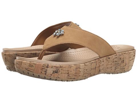 Crocs - A-Leigh Embellished Flip (Cocoa) Women