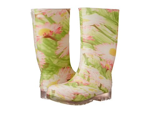 Tundra Boots Kids - Larissa (Little Kid/Big Kid) (Green/Pink Flower) Girls Shoes
