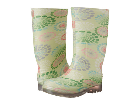 Tundra Boots Kids - Larissa (Little Kid/Big Kid) (Light Blue/Green Daisy) Girls Shoes