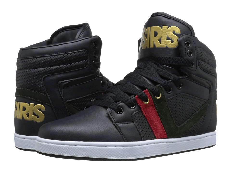 Osiris - Cthi (Black/Red/Green) Men's Skate Shoes