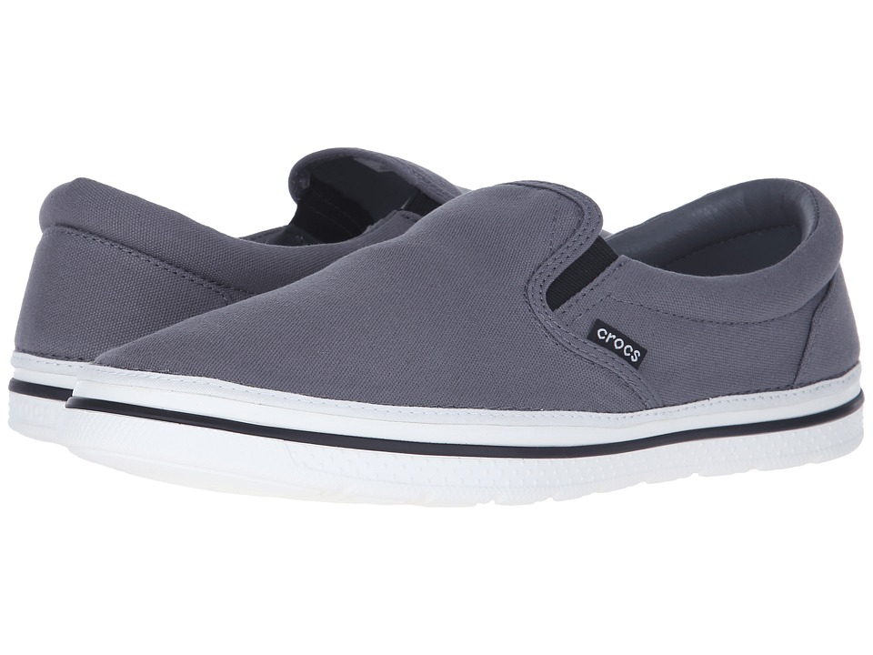 Crocs - Norlin Slip-On (Charcoal/White) Men's Slip on Shoes