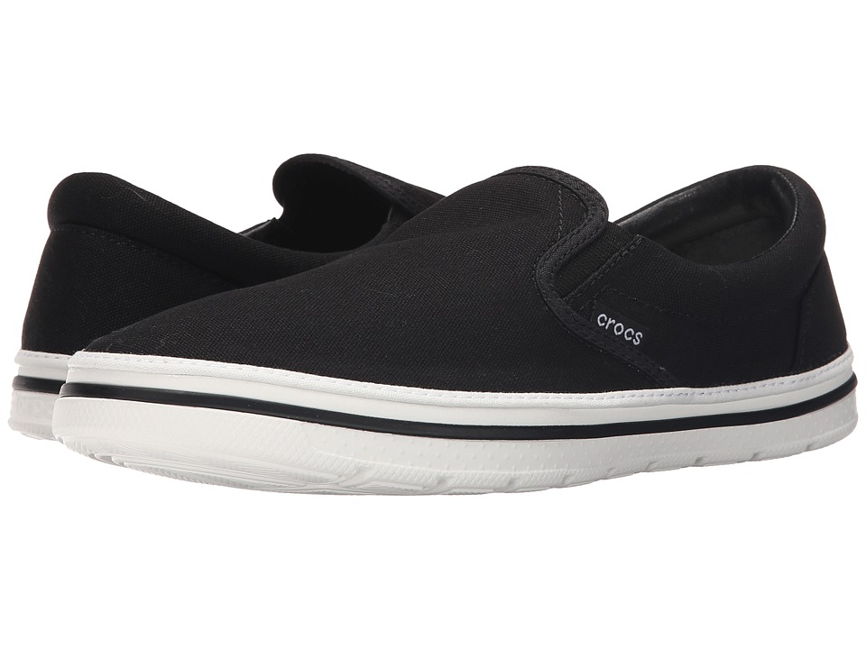 Crocs - Norlin Slip-On (Black/White) Men's Slip on Shoes