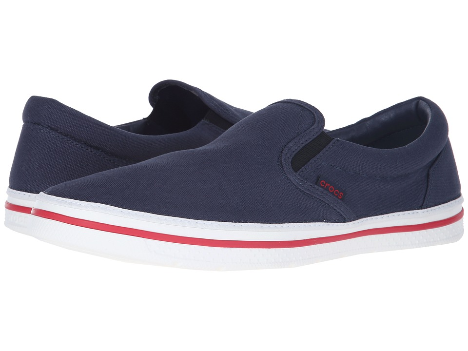 Crocs - Norlin Slip-On (Navy/White) Men's Slip on Shoes
