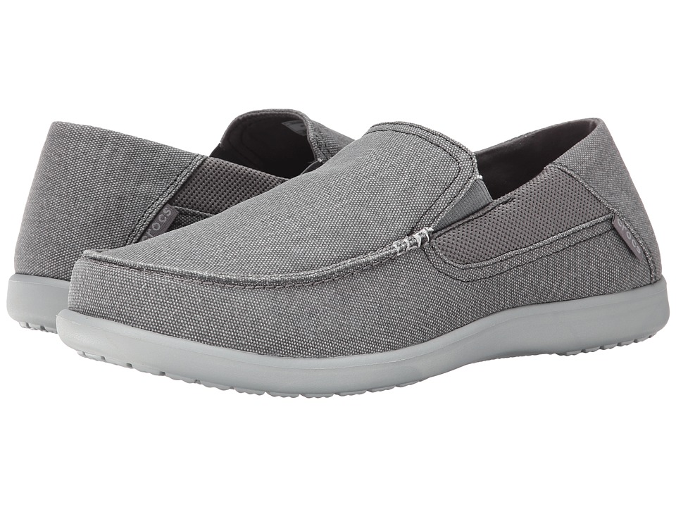 Crocs - Santa Cruz 2 Luxe (Charcoal/Light Grey) Men's Sandals
