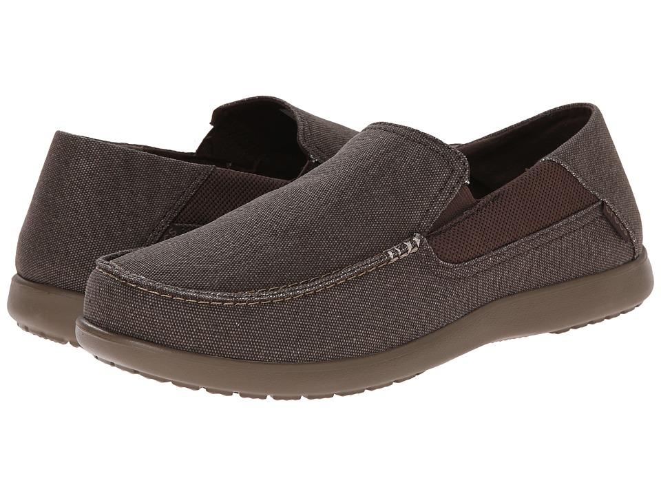 Crocs - Santa Cruz 2 Luxe (Espresso/Walnut) Men's Sandals