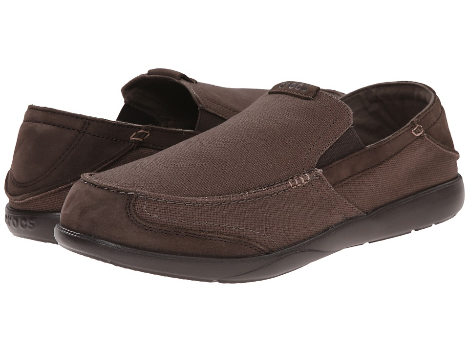 Crocs - Walu Express (Espresso/Espresso) Men's Slip on Shoes