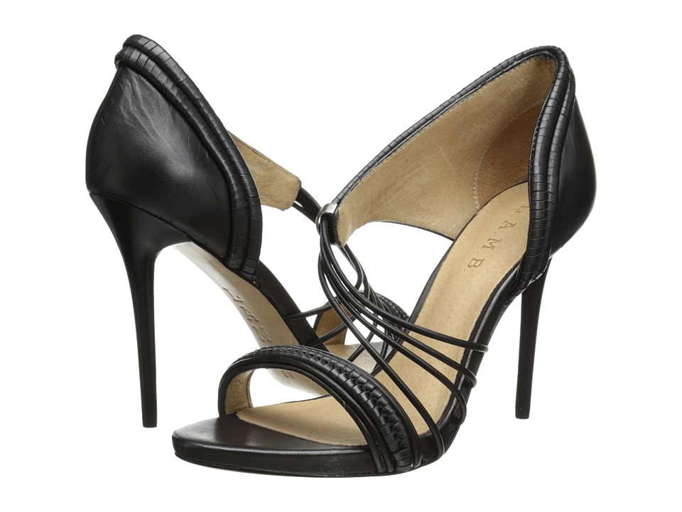 L.A.M.B. Karoline (Black Leather) High Heels