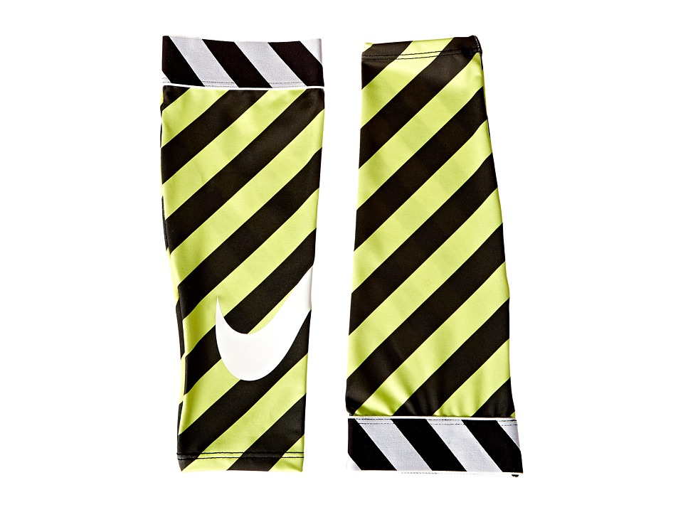 Nike - Nike Pro-Printed Calf Sleeves (Volt/Black/White) Athletic Sports Equipment