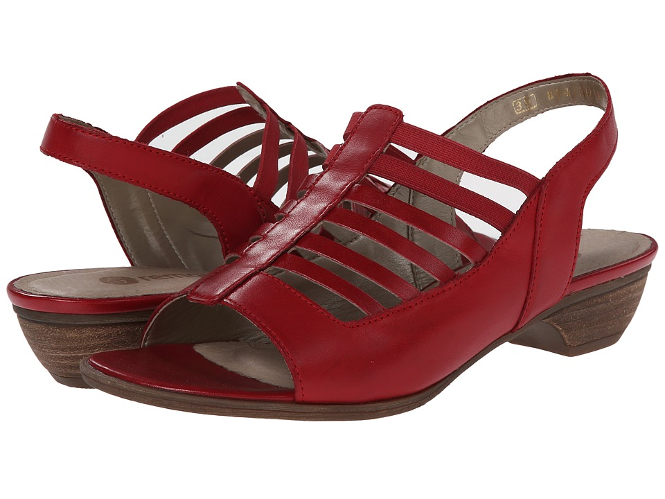 Rieker - R0853 Doreen 53 (Rosso/Fire) Women's Toe Open Shoes