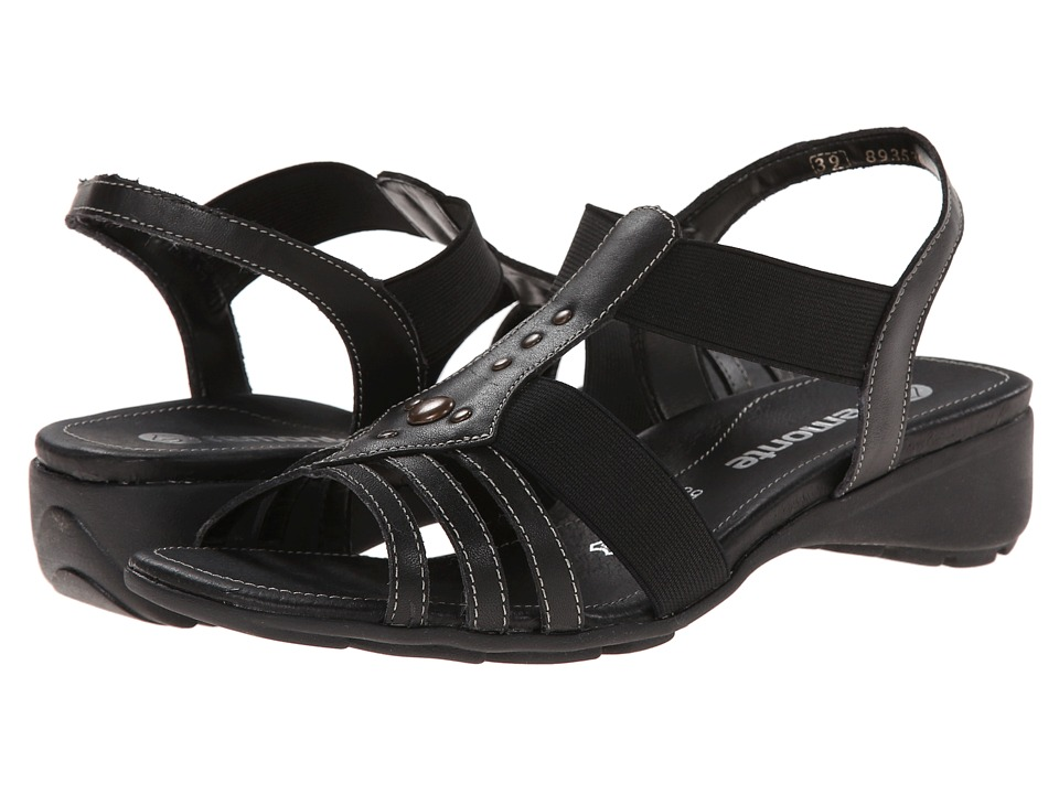 Rieker - Elea 04 (Black/Black) Women's Sandals