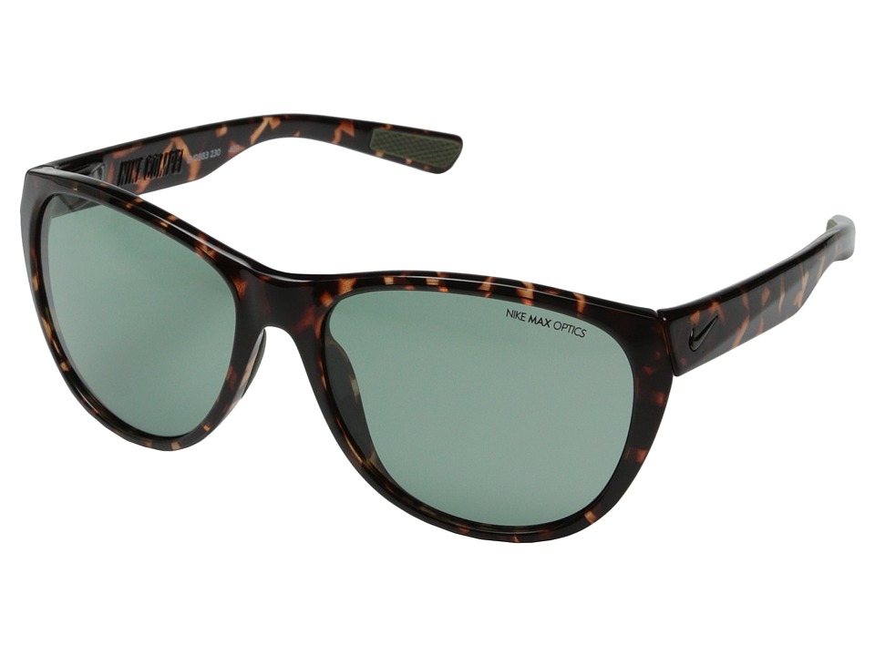 Nike - Compel (Tortoise/Iron Green) Fashion Sunglasses