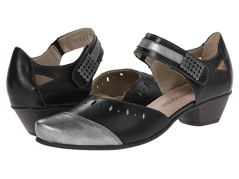 Rieker - R7104 Menami 04 (Stahl/Schwarz/Schwarz) Women's Shoes