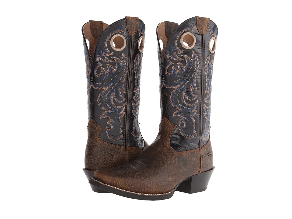 Ariat - Sport Square Toe (Earth/Black) Cowboy Boots