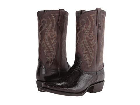 Ariat - River Walk (Chocolate Gator Print) Cowboy Boots