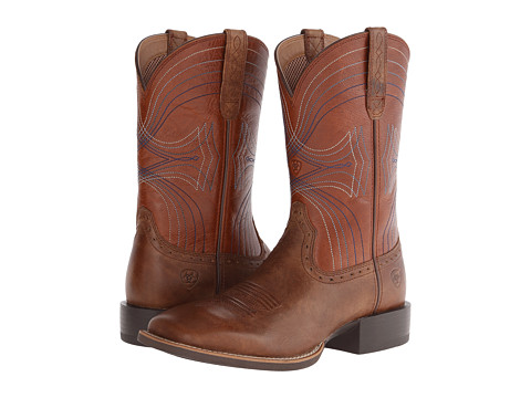 Ariat - Sport Wide Square Toe (Sandstorm/Coyote Brown) Cowboy Boots