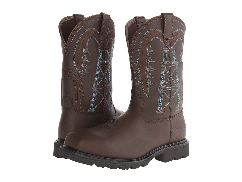 Ariat Wildcatter Pull-On H20 FR Comp Toe (Chocolate CT) Cowboy Boots