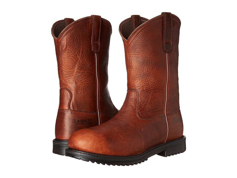 Ariat - Rigtek Pull-On (Oiled Brown) Cowboy Boots