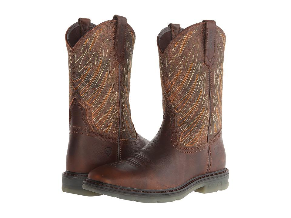 Ariat - Maverick Wide Square Toe (Dark Tan) Men's Work Boots