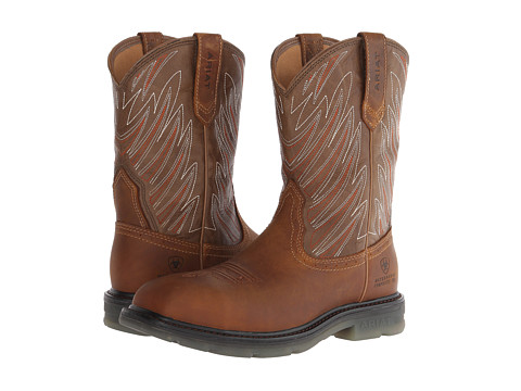Ariat - Maverick Wide Square Toe H20 CT (Aged Bark/Army Green) Cowboy Boots