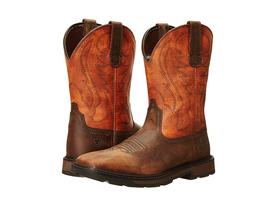 Ariat Groundbreaker Wide Square Toe (Brown/Ember) Cowboy Boots