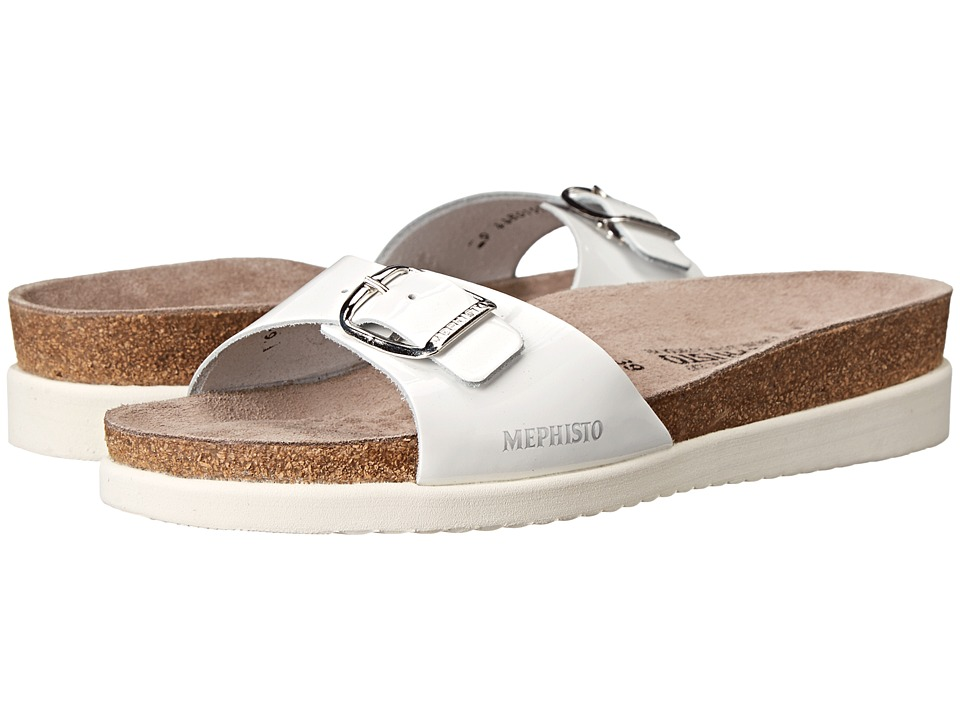 Mephisto - Hania (White Patent) Women's Slide Shoes