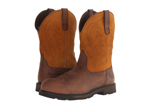 Ariat - Groundbreaker Pull-On H20 ST (Brown/Tan) Cowboy Boots