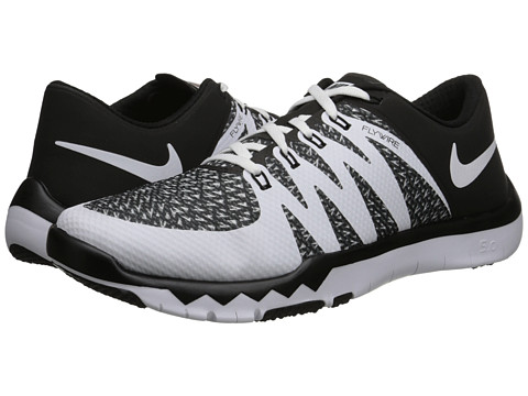 nike free trainer 5.0 v6 mens cross trainers black&white background