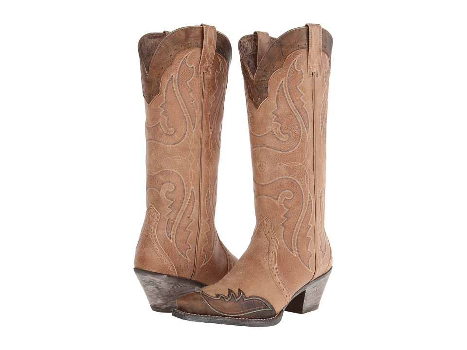 Ariat Heritage Western X Toe Wingtip (Golden Tan) Cowboy Boots