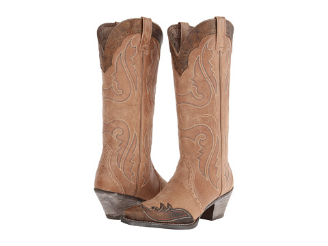 Ariat - Heritage Western X Toe Wingtip (Golden Tan) Cowboy Boots