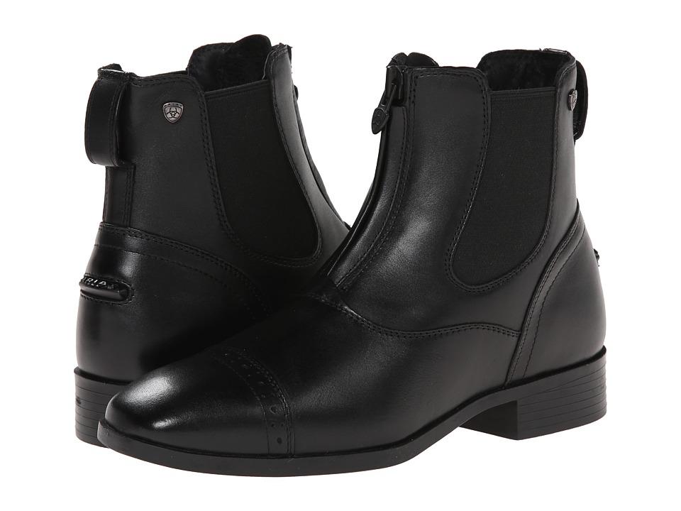 Ariat - Challenge Square Toe Zip Paddock (Black) Women's Zip Boots