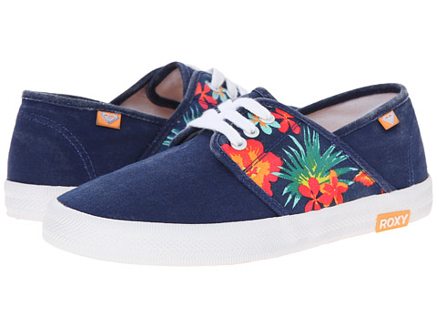 Roxy - Hermosa II (Navy/Orange) Women's Slip on Shoes