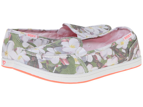 Roxy - Lido Pop (Forest Green/White) Women's Slip on Shoes