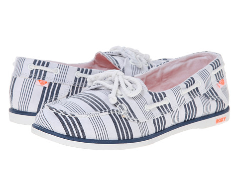 Roxy - La Jolla (Navy White) Women's Slip on Shoes