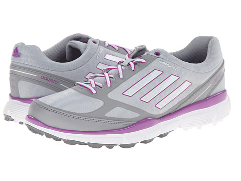 adidas Golf - adiZero Sport III (Clear Onix/Running White/Flash Pink) Women's Golf Shoes
