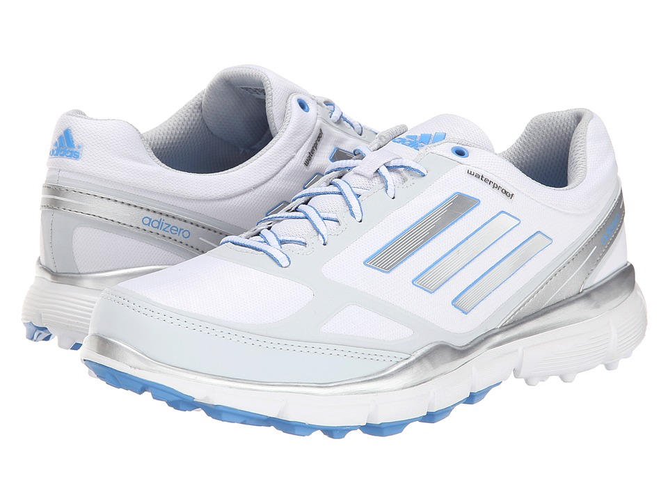 adidas Golf - adiZero Sport III (Running White/Silver Metallic/Lucky Blue) Women's Golf Shoes