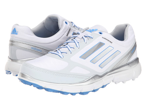 adidas Golf - adiZero Sport III (Running White/Silver Metallic/Lucky Blue) Women