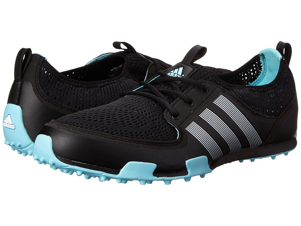 adidas Golf - Climacool Ballerina II (Core Black/Silver Metallic/Clear Aqua) Women's Golf Shoes