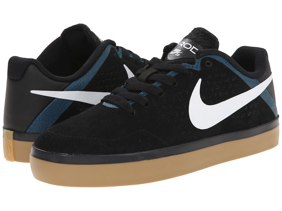 Nike SB Kids - Paul Rodriguez CTD LR (Big Kid) (Black/Teal/Black/White) Boys Shoes