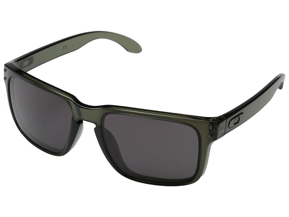 Oakley Holbrook (Warm Grey w/ Olive) Sport Sunglasses