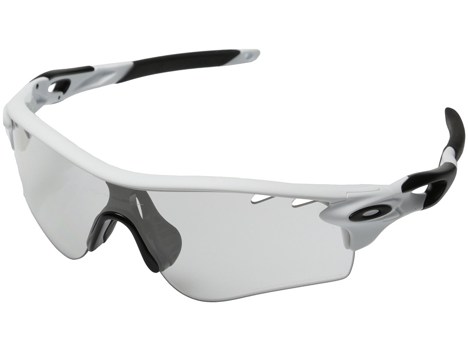 Oakley - Radarlock Path (Clear Black Iridium Photo Activated w/ Matte White) Sport Sunglasses