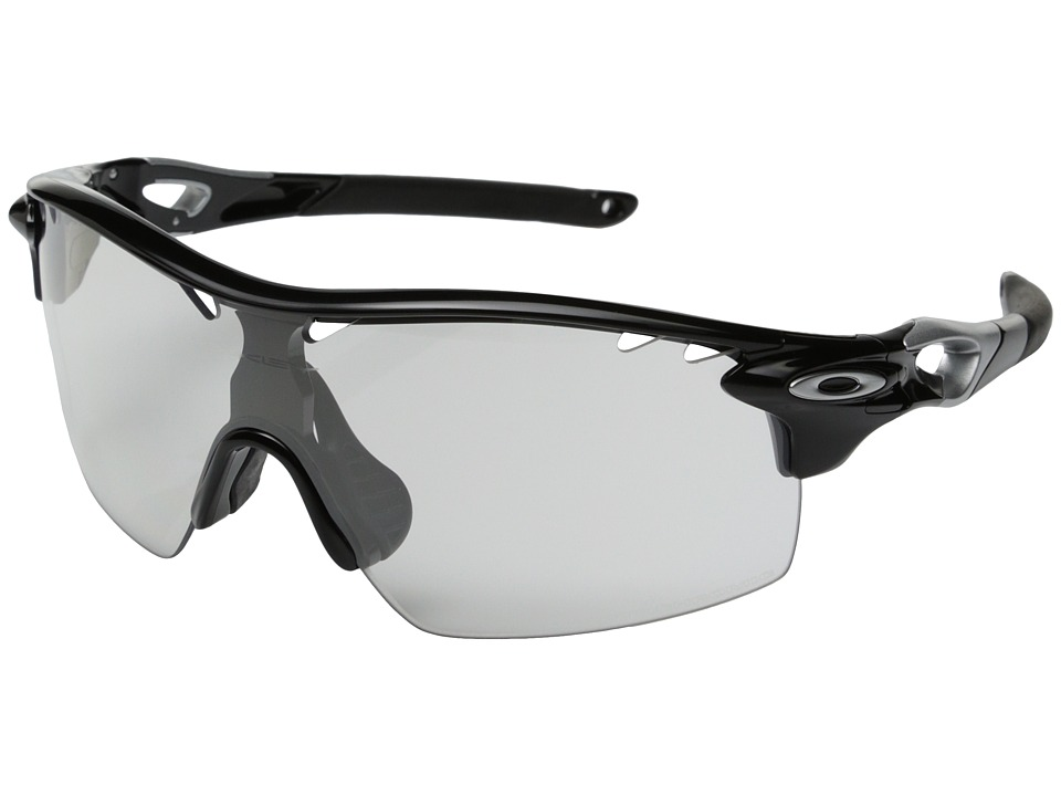 Oakley - Radarlock XL Straight (Clear Black Iridium Photo Activated w/ Polished Black) Sport Sunglasses