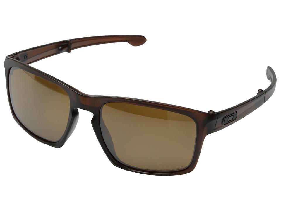 Oakley - Sliver F (Tungsten Iridium Polarized w/ Matte Dark Amber) Fashion Sunglasses