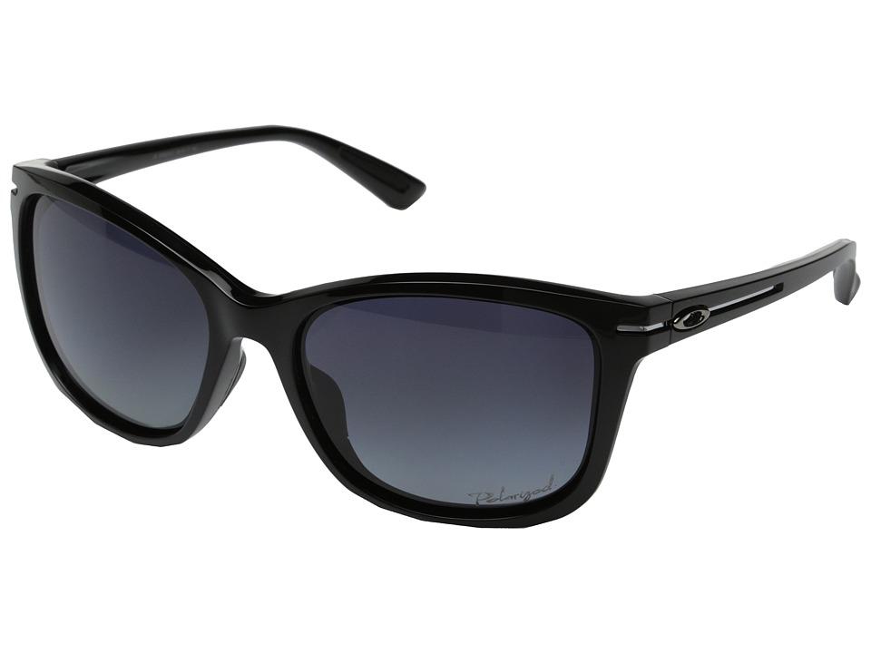 Oakley - Drop-In (Grey Gradient Polarized w/ Polished Black) Fashion Sunglasses